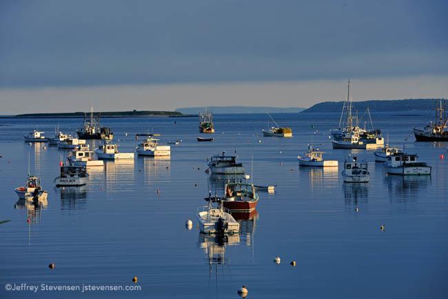 evening slack tide and still water, Port Clyde Harbor, Maine