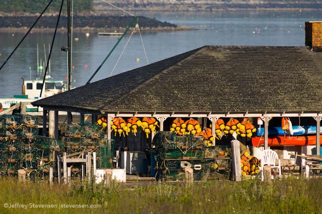 Morning Lobster Gear At Port Clyde Harbor
