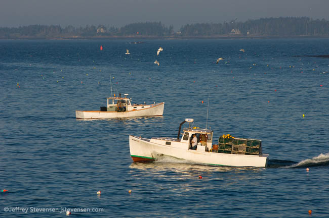 Lobster boat going out in the morning, Port Clyde, Maine