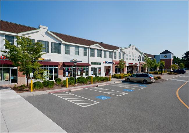 Fox Run Plaza, Glastonbury, Connecticut, retouched.