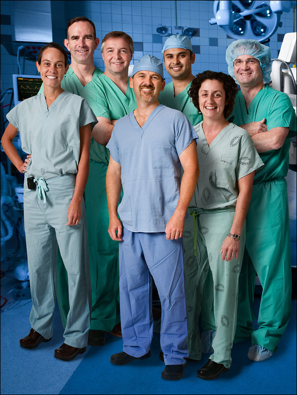 DaVinci Surgeons, Maine General Medical Center. Group assembled in post.